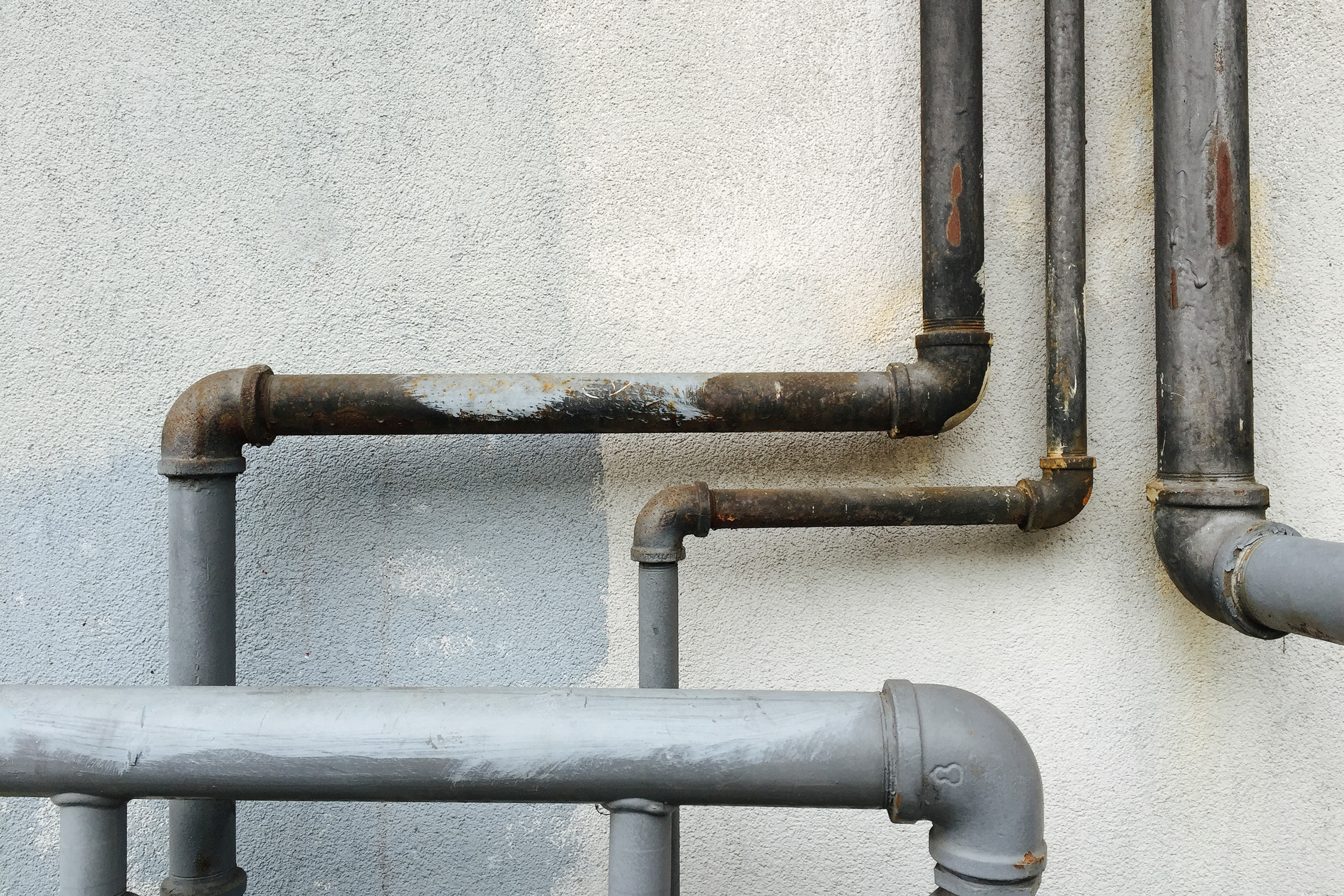 Pipes running through a home