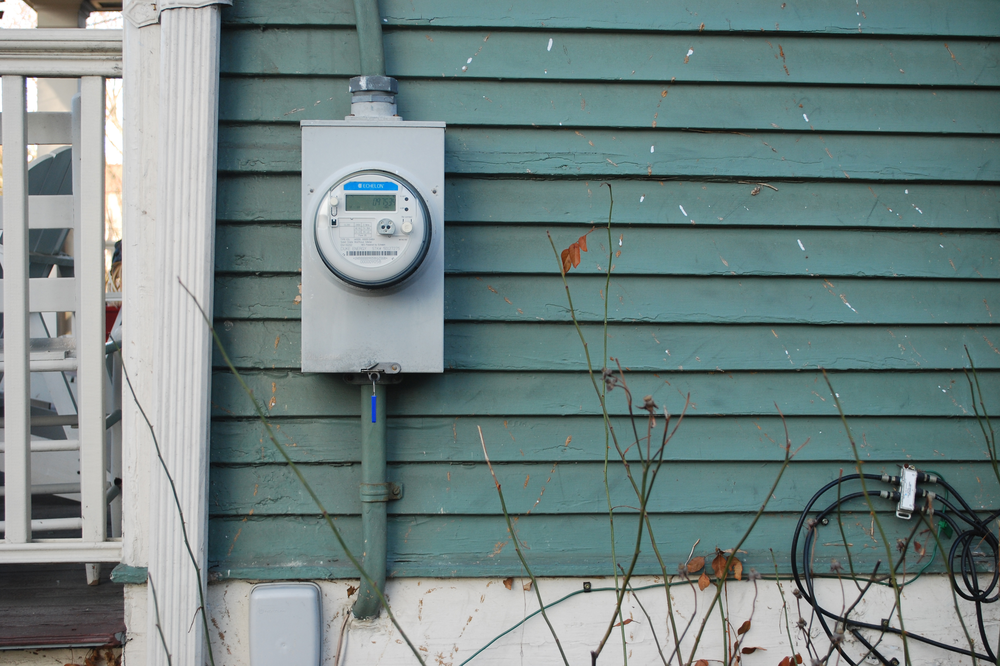 Energy meter outside of a home