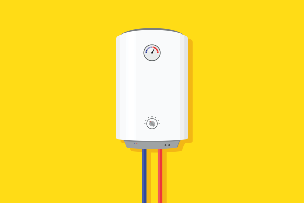 Illustration of a home water heater