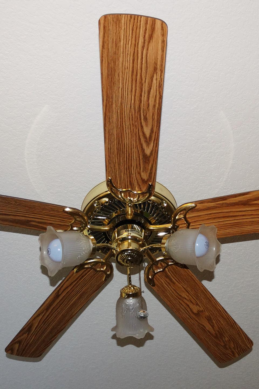 Wood ceiling fan blades