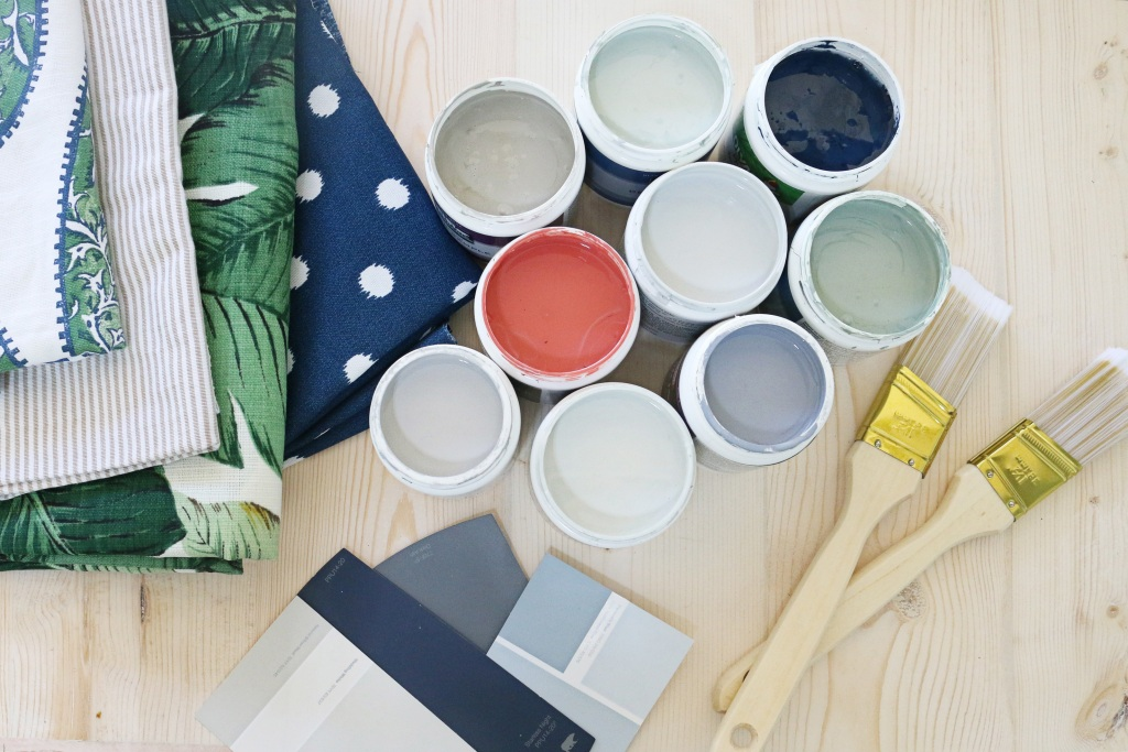 Samples of interior paint
