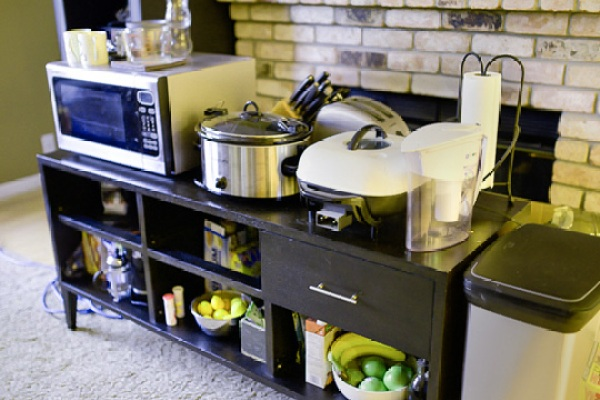 Temporary kitchen during renovation