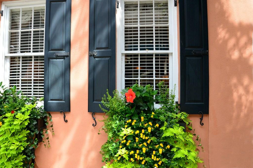 Large windows outside historic home