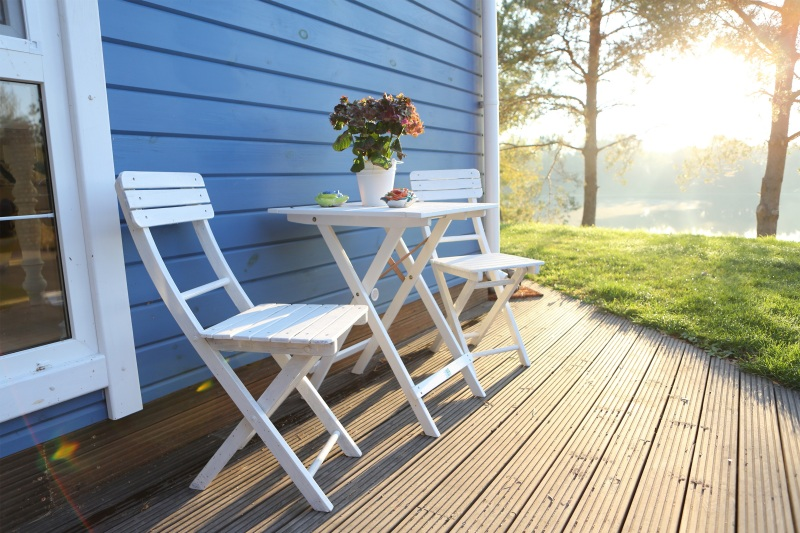 Relaxing porch with tranquil sunrise view