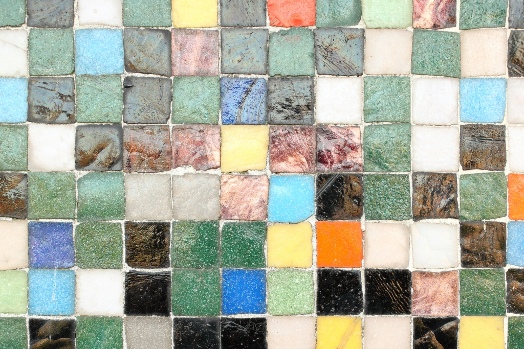 Colorful mosaic tile in a home