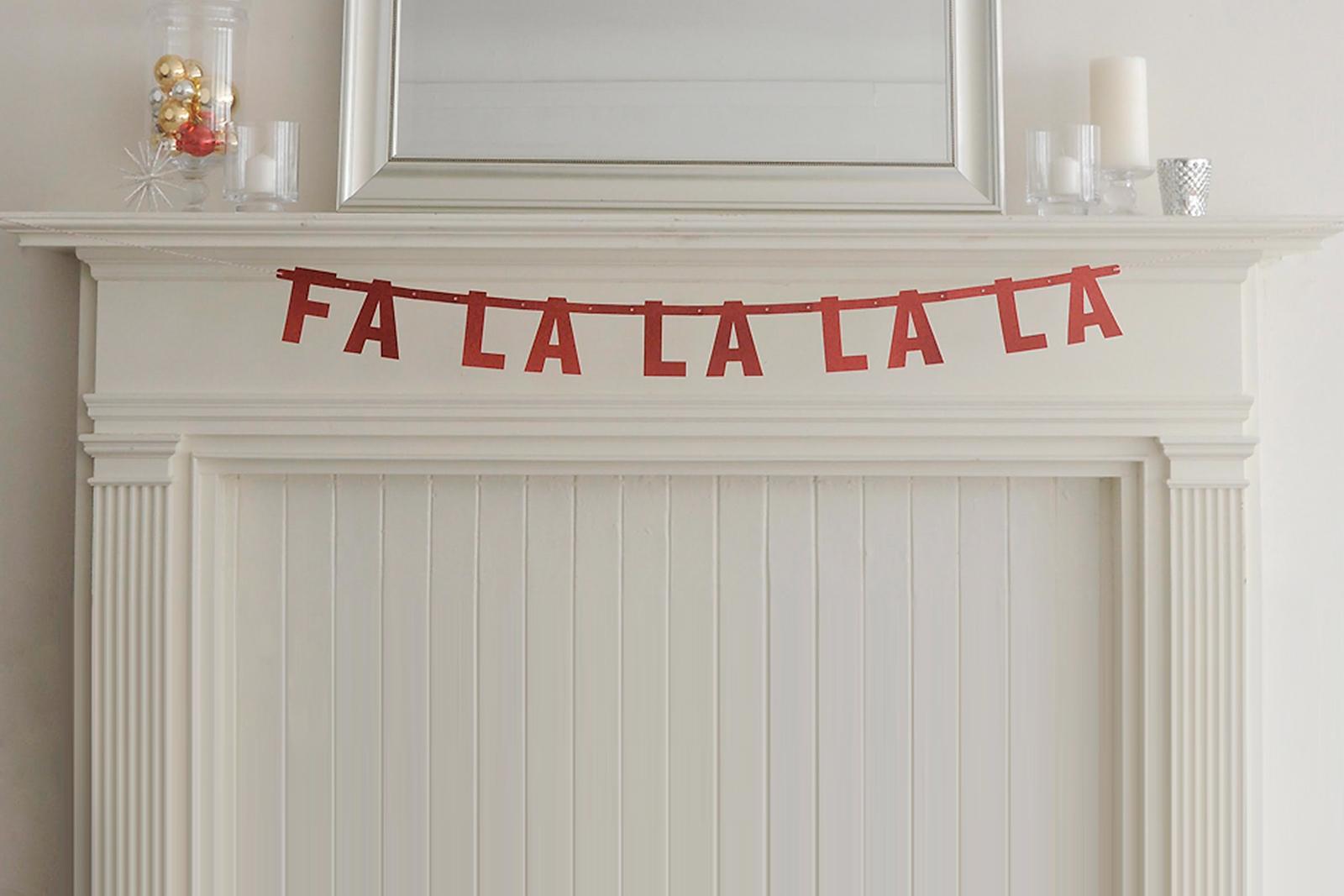 Jolly Christmas mantel banner