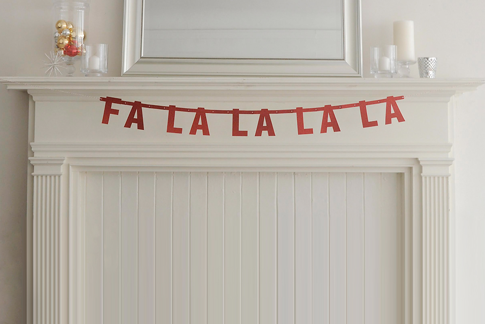 Jolly Christmas mantel banner