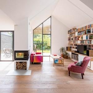 Organized contemporary living room