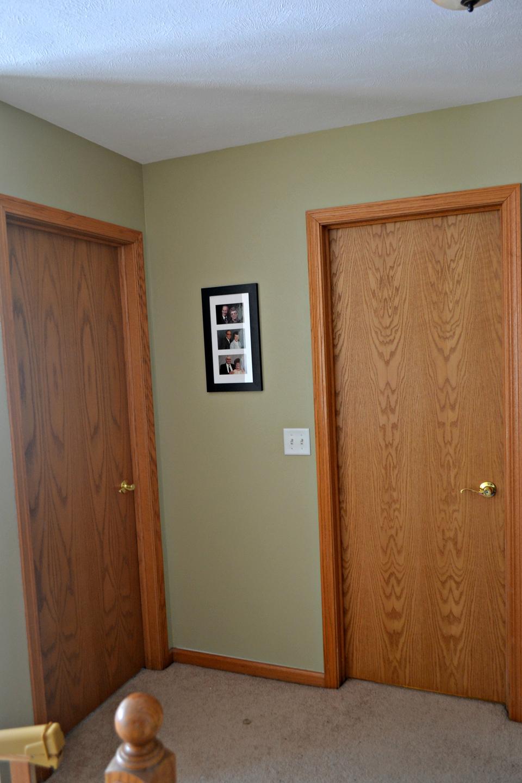 An old wood interior door