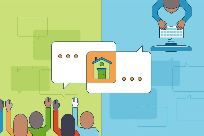Illustration for homebuying experts on Facebook live