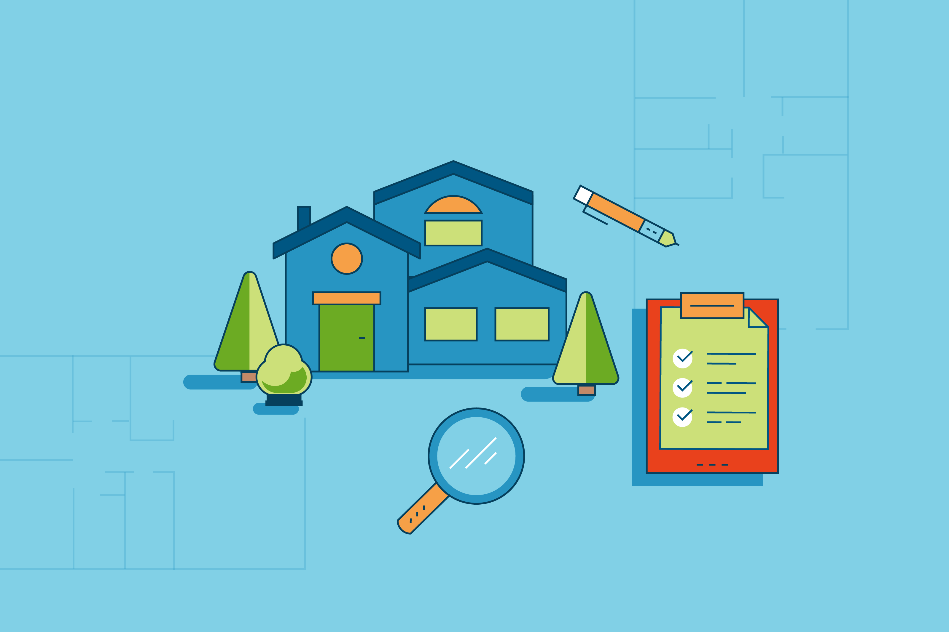 Home appraisal illustration