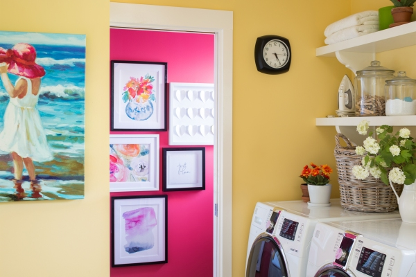 Brightly painted walls in a color expert's home