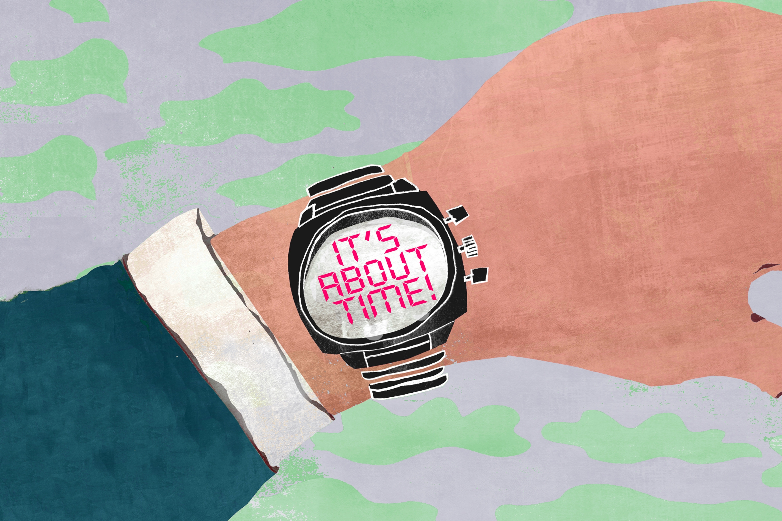 Do This Now illustration arm with watch
