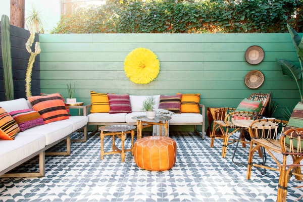 Colorful patio at a home