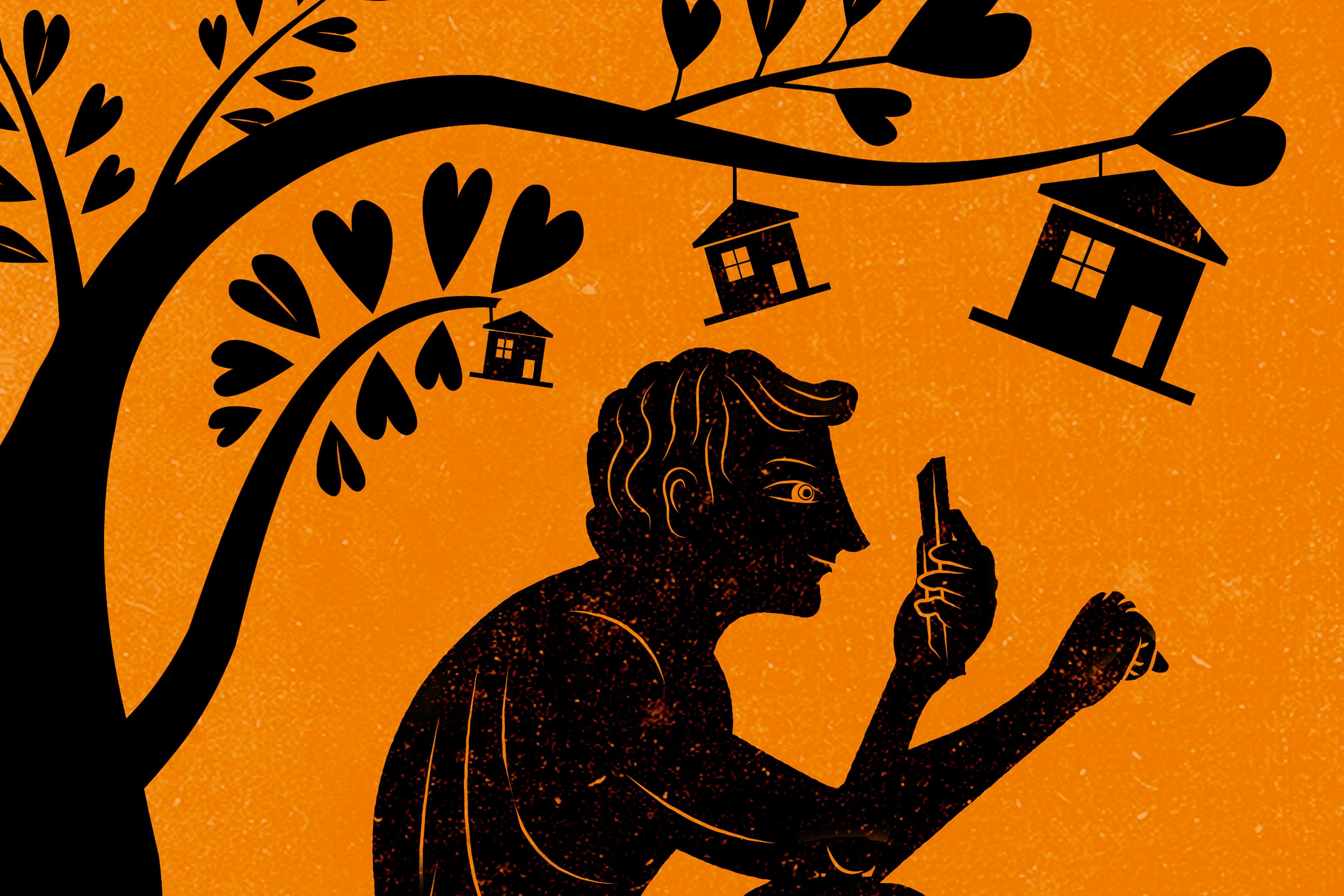 Illustration of man on a red-figured bowl