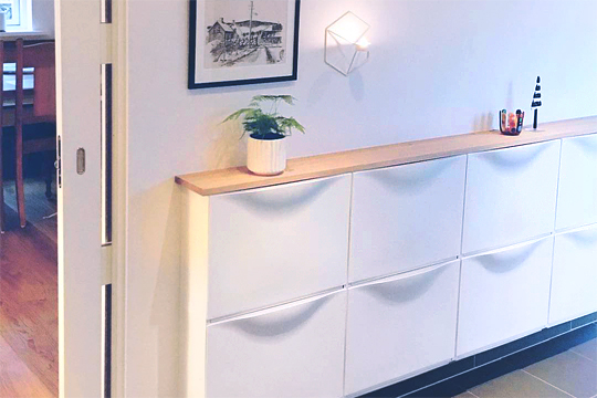 IKEA built-in entryway storage