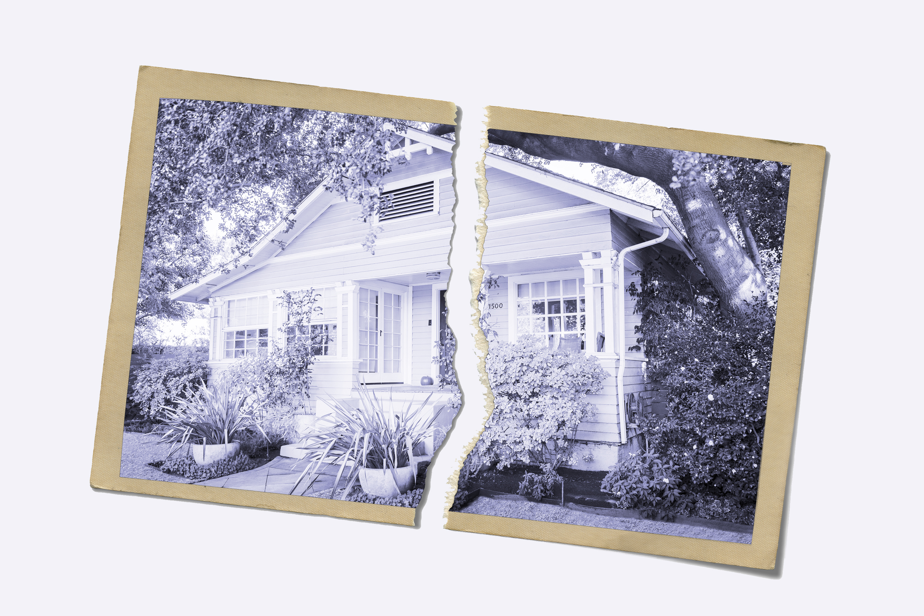 Torn polaroid of a bungalow | house hunting tips
