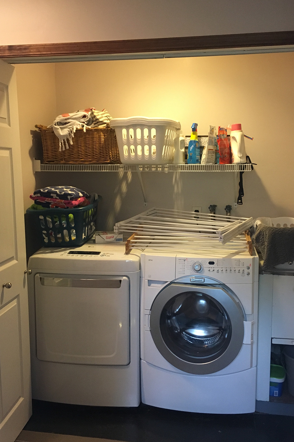 Washer and dry in closet   Winter Home Improvement Projects