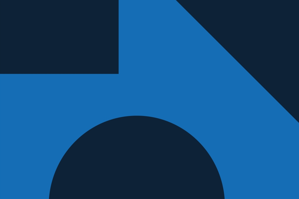 Abstract vector illustration featuring blue and navy blue