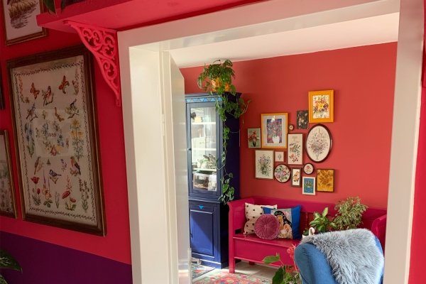 Colorful paint in a house