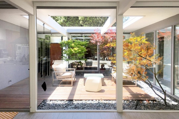 Courtyard in a home for entertaining