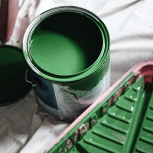 Can of interior house paint