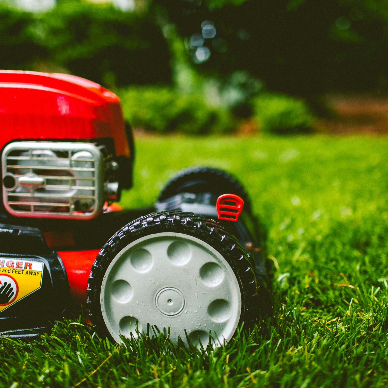 Lawn mower used for summer lawn care