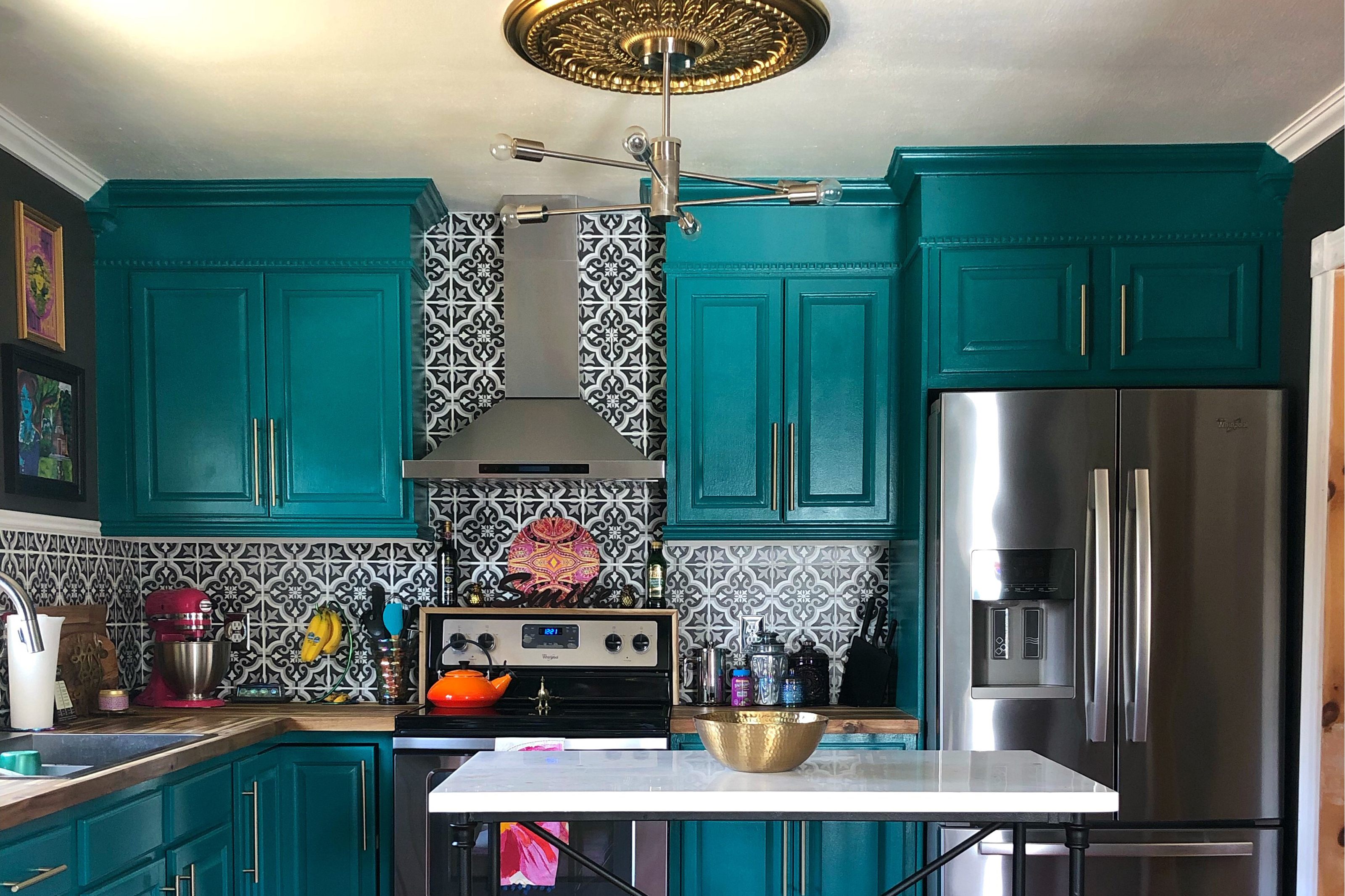 Renovated kitchen in the Trombley Home