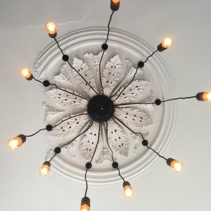 Clean lights to help homeowner save money with ceiling rose