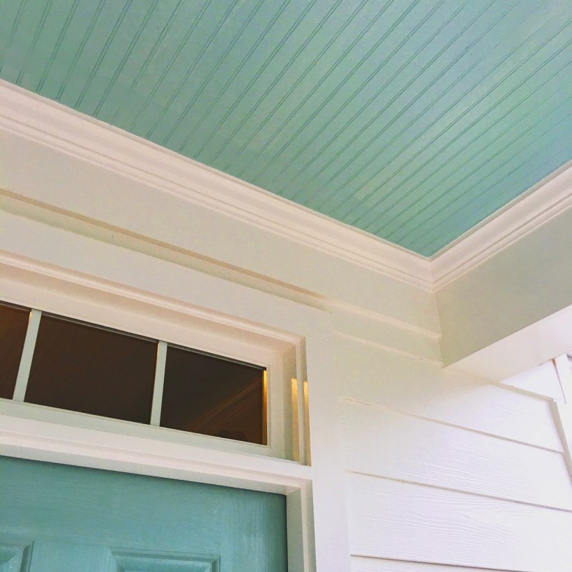 Haint blue porch ceiling to keep bugs away