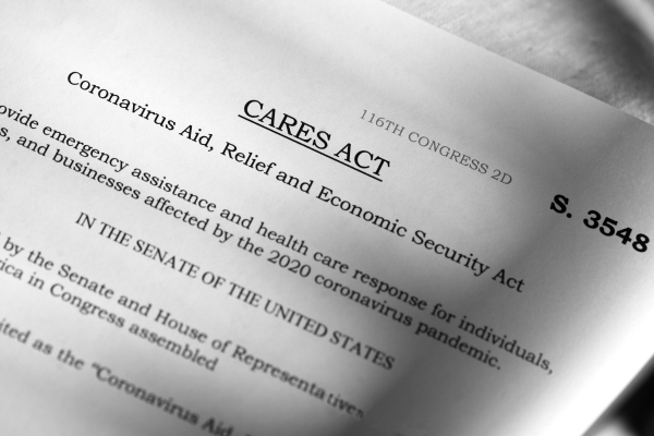 simulated image of the 2020 CARES Act