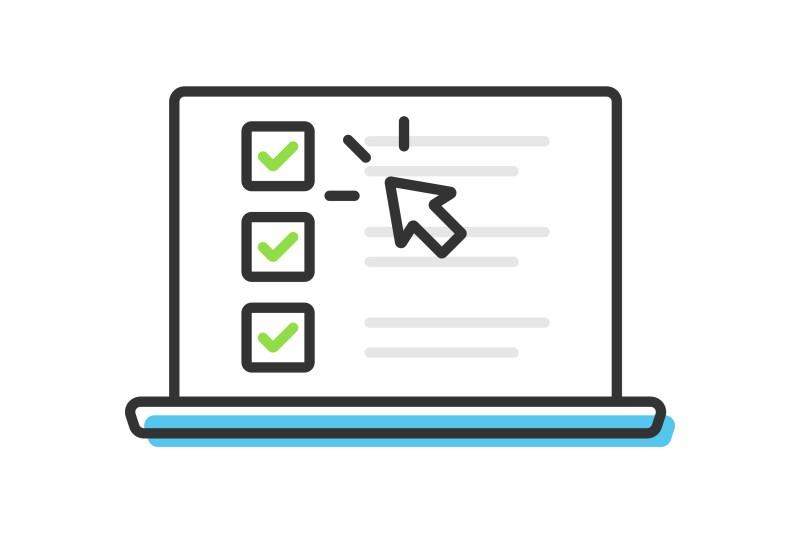 Closing mistakes to avoid laptop screen illustration